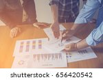 business meeting  man's hands... | Shutterstock . vector #656420542