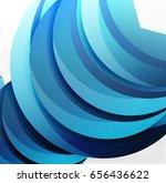 3d wave lines design. dynamic... | Shutterstock .eps vector #656436622