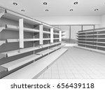 empty supermarket set of... | Shutterstock . vector #656439118