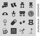 small icons set. set of 16... | Shutterstock .eps vector #656442445