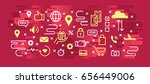 set of icons for messages. on a ... | Shutterstock .eps vector #656449006