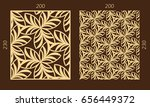laser cutting set. woodcut... | Shutterstock .eps vector #656449372