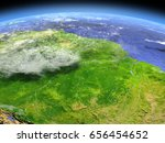 amazon rainforest from space.... | Shutterstock . vector #656454652