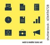 vector illustration of 9 online ...