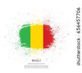 flag of mali  brush stroke... | Shutterstock .eps vector #656457706