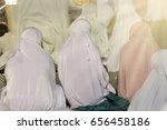 muslim women pray middle east... | Shutterstock . vector #656458186