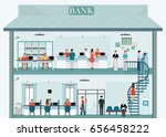 bank building exterior and... | Shutterstock .eps vector #656458222