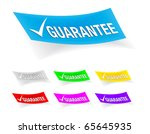 guarantee check mark stickers | Shutterstock .eps vector #65645935