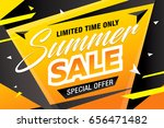 summer sale template banner ... | Shutterstock .eps vector #656471482