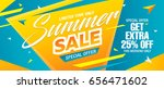 summer sale template banner ... | Shutterstock .eps vector #656471602