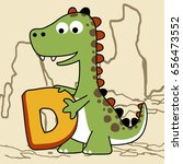 d is for dinosaurs  vector... | Shutterstock .eps vector #656473552