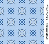 ship helm seamless pattern...   Shutterstock .eps vector #656473912