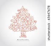 christmas tree | Shutterstock .eps vector #65647678