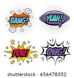 comic pop art sign | Shutterstock .eps vector #656478352
