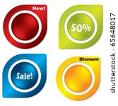 buttoned labels | Shutterstock .eps vector #65648017