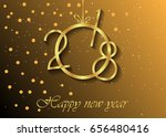 2018 happy new year background...   Shutterstock .eps vector #656480416