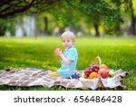 beautiful little boy having a... | Shutterstock . vector #656486428