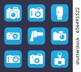 photographic icon. set of 9... | Shutterstock .eps vector #656491522