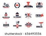 barbecue logos | Shutterstock .eps vector #656493556