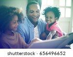 african descent family house... | Shutterstock . vector #656496652