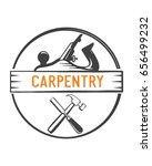 carpentry logo vector | Shutterstock .eps vector #656499232