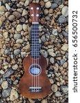 close up of a ukulele resting... | Shutterstock . vector #656500732