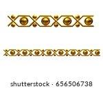 golden  ornamental segment for...   Shutterstock . vector #656506738