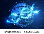 abstract technology science...   Shutterstock .eps vector #656510638