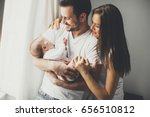 view at happy family with... | Shutterstock . vector #656510812