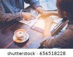 business people meeting design... | Shutterstock . vector #656518228