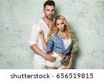 beautiful caucasian couple...   Shutterstock . vector #656519815