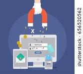 vector of phishing email... | Shutterstock .eps vector #656520562