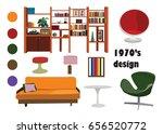1970s 70s interior design... | Shutterstock .eps vector #656520772