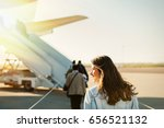 woman tourist passager getting... | Shutterstock . vector #656521132