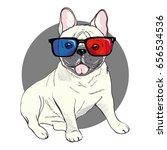 bulldog  vector  illustration   Shutterstock .eps vector #656534536