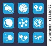 sphere icon. set of 9 filled...   Shutterstock .eps vector #656536432
