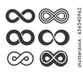 infinity symbol icons set.... | Shutterstock .eps vector #656540962