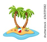 illustration of isolated island ... | Shutterstock .eps vector #656559382