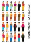 man flat style people figures... | Shutterstock .eps vector #656561062