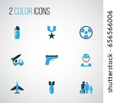 army colorful icons set.... | Shutterstock .eps vector #656566006