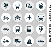 shipment icons set. collection... | Shutterstock .eps vector #656566312