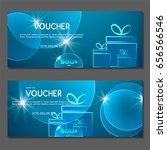 gift voucher. vector ... | Shutterstock .eps vector #656566546