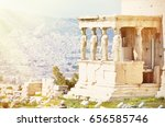 Small photo of Athens acropolis - Erechtheion with Porch of the Caryatids, Greece
