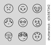 mood icons set. set of 9 mood... | Shutterstock .eps vector #656587342