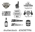happy father s day badges and... | Shutterstock . vector #656587996