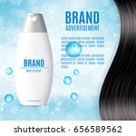 premium shampoo ads. realistic... | Shutterstock .eps vector #656589562