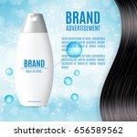 premium shampoo ads. realistic... | Shutterstock .eps vector #656589562