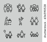 father icons set. set of 9... | Shutterstock .eps vector #656590528