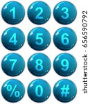 button numbers set   web blue... | Shutterstock . vector #656590792