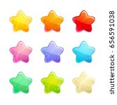 cartoon glossy colorful stars...